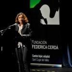 Mercè Conesa, alcaldesa de Sant Cugat, en la inauguración de la Fundación Federica Cerdá