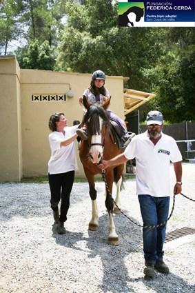 Hipoterapia, terapia con caballos, Fundación Federica Cerdá